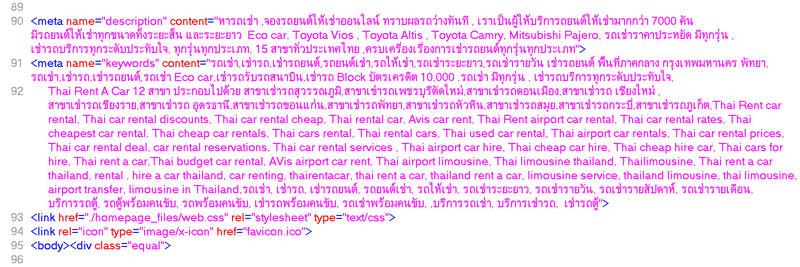 Keyword_thairentacar